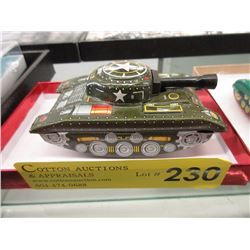 1960s Tin 3-Wheel US Army Tank