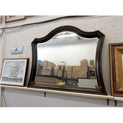 Large Wood Framed Mirror