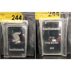 10 Oz. Scotia Bank .999 Silver Bar