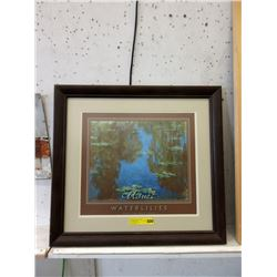 Framed Monet Waterlilies Print