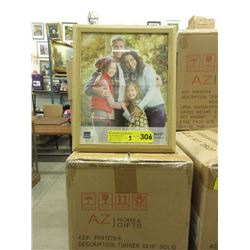 "3 Cases of 12 New 8"" x 10"" Oak Picture Frames"