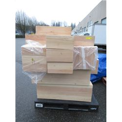 Skid of Wood Block Display Stands