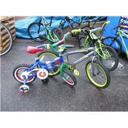 2 Children's Bikes - As Is