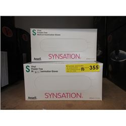 10 Boxes of Vinyl Examination Gloves - Size S