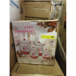 2 Assorted New 4 Piece Canister Sets