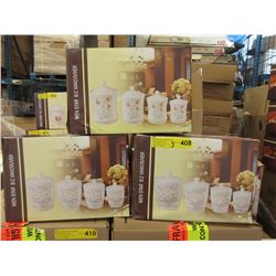 3 Assorted New 4 Piece Canister Sets