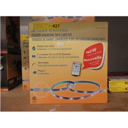 New 24 Foot LED Colour Changing Tape Light Kit