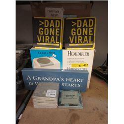 Humidifier, New Paper Napkins & Hallmark Goods