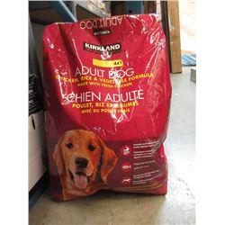 18 KG Bag of Kirkland Dry Dog Food - Resealed