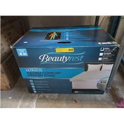 """New 4"""" Beautyrest Memory Foam Mattress Pad"""