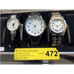 New Six Slot Watch Box with 3 New Watches