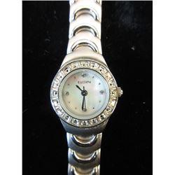 Ladies Elgin Diamond Dial Wrist Watch
