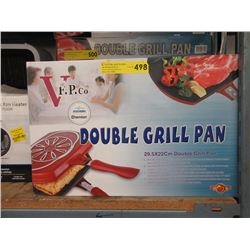 New Non-Stick Double Grill Pan