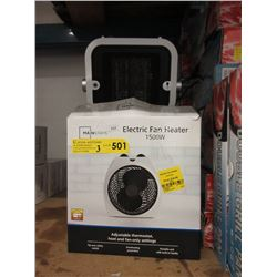 Three 1500 Watt Electric Heater Fans