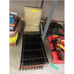 6 Metal Grates & 2 Key Boxes - No Keys