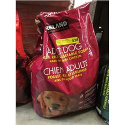 18 KG Bag of Kirkland Dry Dog Food - Resealed