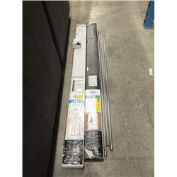 2 Window Blinds & 3 Metal Curtain Rods