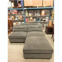 5 Piece Modular Sectional Sofa - Grey