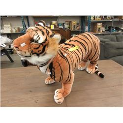 "New 3 Foot Long Plush Tiger Toy - 23"" Tall"