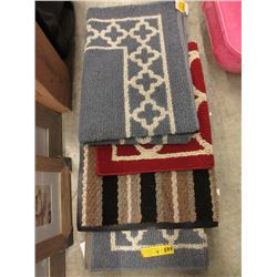 4 New Non Slip Accent Rugs