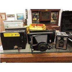 3 Vintage Brownie Cameras