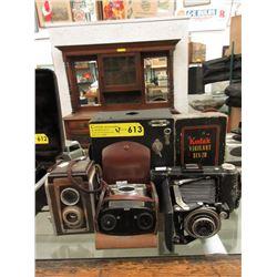 4 Vintage Kodak Cameras