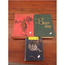 3 Vintage Hardcover Boy's Books