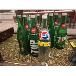 12 Vintage Glass Pop Bottles