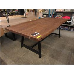 New LH Imports Live Edge Bowtie Dining Table