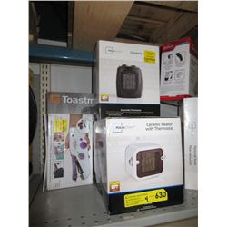 2 Ceramic Heaters, Coffeemaker & More