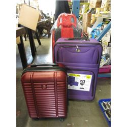 Rolling Shopping Cart & 2 Pieces of Luggage