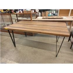 New LH Imports Sundried Wood Top Table