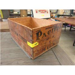 Vintage Pacific Evaporated Milk Wood Crate
