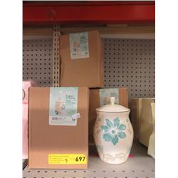 "5 New 8"" Ceramic Storage Jars"