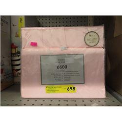 New Queen Size 6 Piece Sheet Set - Pink