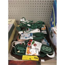 12 New Extension Cords