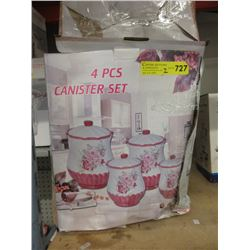 2 New 4 Piece Ceramic Canister Sets