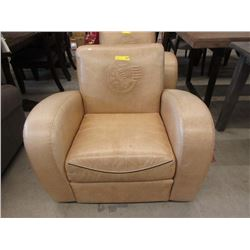 Leather Arm Chair with Indian Motorcycle Logo