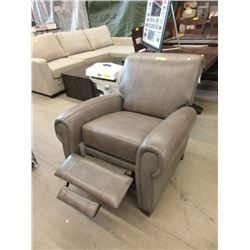New Amax Grey Leather Pushback Recliner