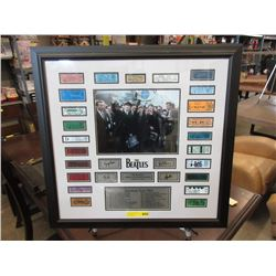 Framed 1964 Beatles Memorabilia