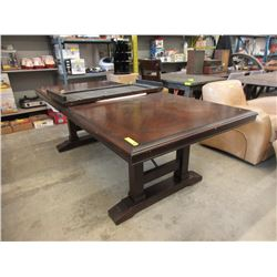 Large Home Elegance Dining Table with Leaf