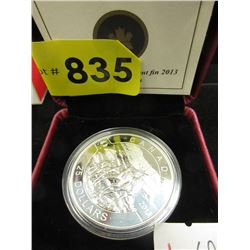 2013 Canadian .9999 Fine Silver $25 Caribou Coin