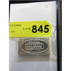 One Troy Ounce .999 Fine Silver Collector Bar