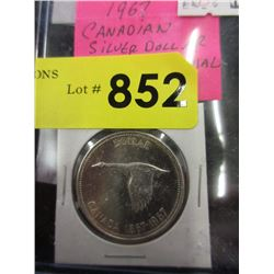 1967 Canadian Silver Dollar Coin - .800 Silver