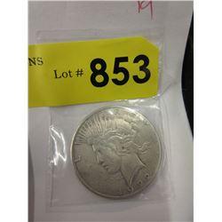 1922 USA Peace Silver Dollar Coin - .900 Silver
