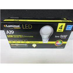 New  LED Elite 60watt replacement Bulb / Dimmable pack of 4/last 18 years