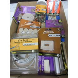 Flat Full of New Assorted Hardware for the Home / Bungee's , Felt Pads and more