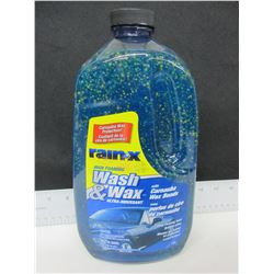 Large 1.89 liter Rain X Wash & Wax Ultra with Carnuba Wax Beads