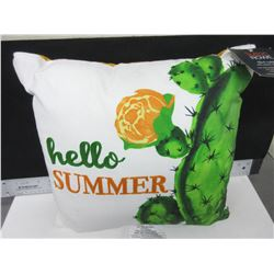 Sutton Rowe 16x16x4 Hello Summer Pillow / lol long way from that