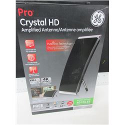 New GE Crystal HD Amplified Antenna full HD 1080p 4K Ultra HD / get free